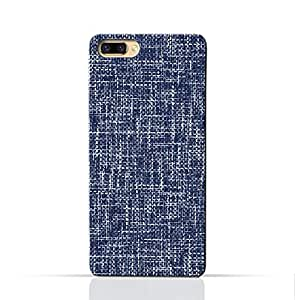 AMC Design Oppo R11 Plus Mobile Protective Case with Brushed Chambray Pattern - Blue