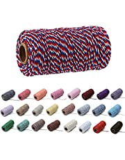 1 Roll 2mm 109 Yard Colourful Cotton Cord Bakers Twine DIY Crafts Gift Wrapping Christmas Wedding Home Decor String Rope
