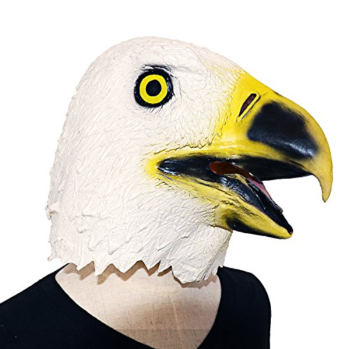 [XIAO MO GU Latex Halloween Costume Mask Decorations Animal Head Mask Bald Eagle] (Homemade Scary Clown Halloween Costumes)