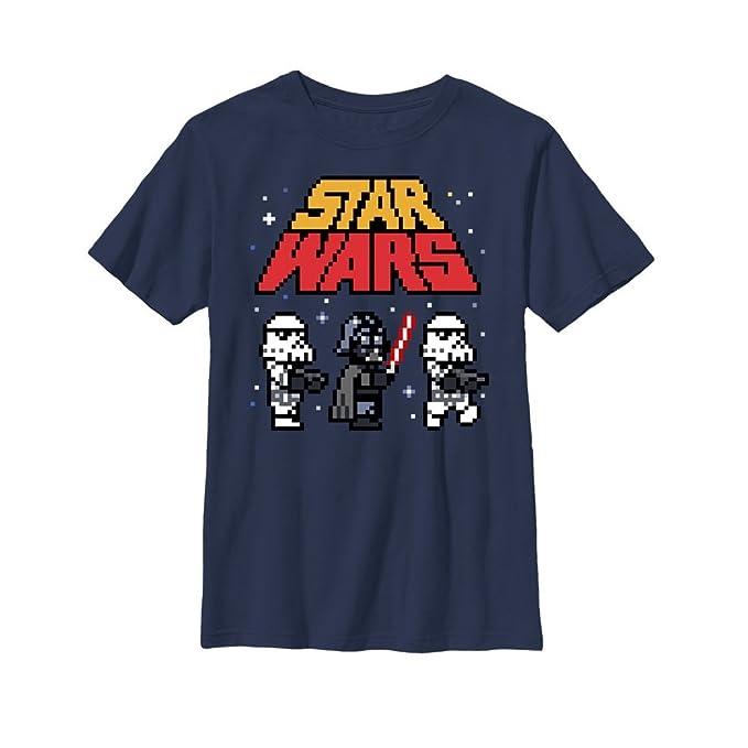 Amazoncom Star Wars Boys Pixel Darth Vader And