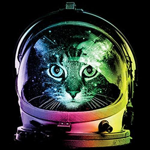 Pop Art Canvas ::: Space Cat ::: peppige Umhängtasche mit Art Style Katzen Motiv