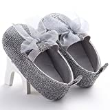 WAYLONGPLUS Baby Girl's Walking Soft Sole Crib Prewalker Shoes (Size 11)
