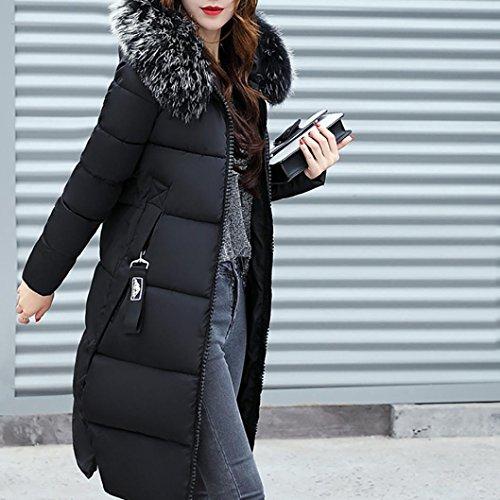 Blouson Femme Hiver Fausse Veston Manteau Noir Doudoune Zip Hoodie Long Coat Capuche Chaud Jacket Veste Fourrure zycShang U4AAxq5O