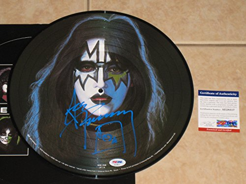 (Ace Frehley signed KISS Solo Picture Disc Album LP Record Autographed PSA COA)