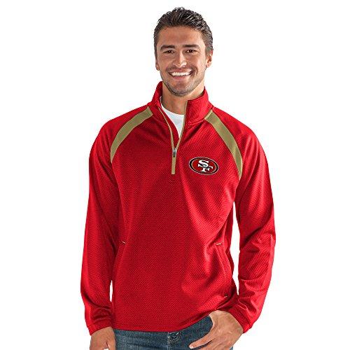 Zip Half Jacket Pullover (G-III Sports NFL San Francisco 49ers High Impact Half Zip Pullover, 6X, Red)