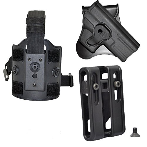 ar TSG-xd45 Springfield XD .40/9mm/.45 Modular Level II Retention Paddle Holster - Option 3 ()