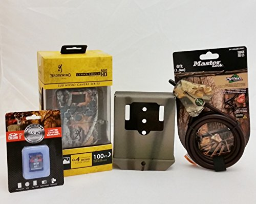 Browning Strike Force BTC-5HD-850 Trail Camera | 8GB Card | Python Cable | Camlockbox Security Box