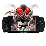 Huongoo Handheld Game Console, Handheld Video Game 4.3 Inch Screen 368 Classic Games,Retro Game Console Can Play on TV, Good Gifts for Kids to Adult. (Black)