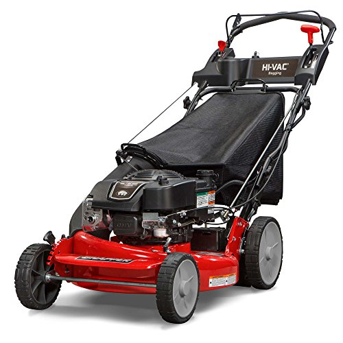 Snapper P2185020E / 7800982 HI VAC 190cc 3-N-1 Rear Wheel Drive Variable Speed Self Propelled Lawn Mower with 21-Inch Deck and ReadyStart System and 7 Position Heigh-of-Cut - Electric Start (Lawn Mower Vacuum)