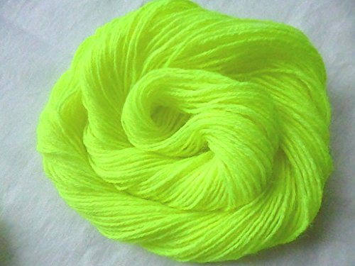 Easy Care Neon Lime Green Acrylic Machine Washable Knitting Crochet Yarn