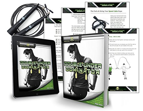 Jump Rope - Premium Quality - Best for Boxing MMA Fitness Training - Speed - Adjustable - Survival and Cross - Sold By FMS International Authorized Seller