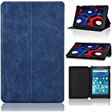 ACdream Amazon Fire HD 8 Case (5th Generation 2015 release), PU Leather Slim Smartshell Cover Case for Amazon Fire HD 8, 8'' HD Display Wi-Fi 8 GB with Auto Wake Sleep Feature , Dark Blue