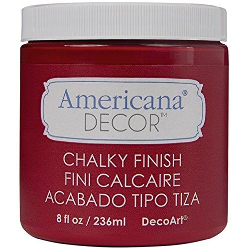 Red 8 Oz Americana Paint - DecoArt ADC-06 Americana Chalky Finish Paint, 8-Ounce, Romance, Romance