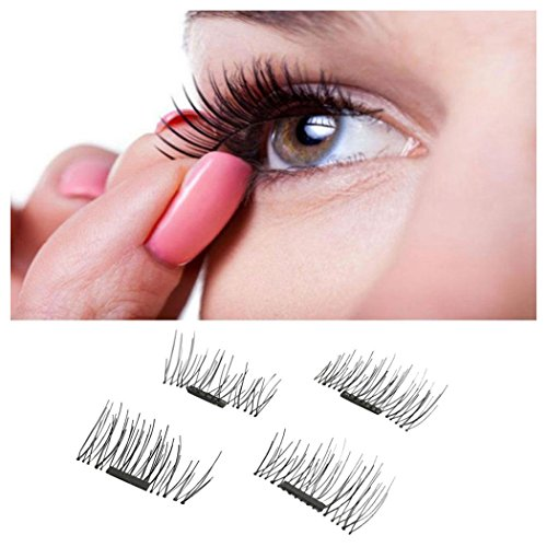 Price comparison product image Magnetic False Eyelashes, Inkach Women 3D Reusable Fake Eye Lashes Wispies with Magnet