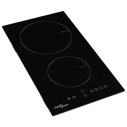 Tidyard- Placa vitrocerámica de inducción 2 quemadores ...