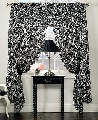 Waterford Linens Lisette Pole Top Drape Curtain 55 x 84