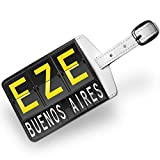 Luggage Tag EZE Airport Code for Buenos Aires, Travel ID Bag Tag - Neonblond
