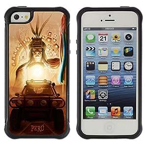 Hybrid Anti-Shock Defend Case for Apple iPhone 6 4.7 6 4.7 Inca Aztec God