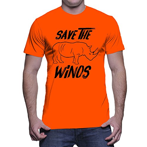 (HAASE UNLIMITED Men's Save The Winos T-Shirt (Orange, XXX-Large))