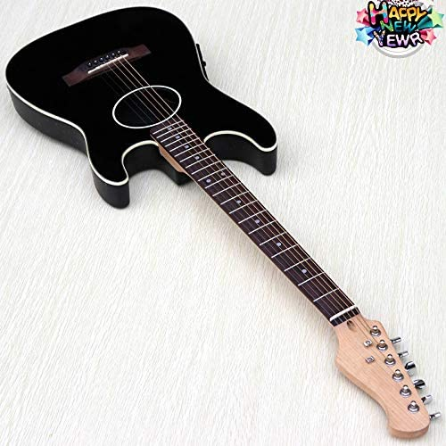 Guitarra acústica eléctrica de 39 pulgadas con cuello de guitarra ...