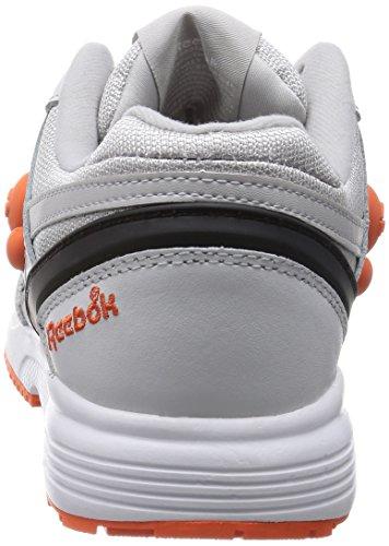 Reebok - Zapatillas para hombre Gris-Naranja-Negro