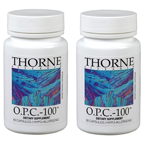 Thorne Research - 2 pack O.P.C.-100 - Grape Seed Phytosome for Antioxidant Support - 60 Vegetarian Capsules by Thorne Research