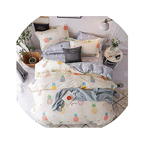 Clayton M Bracewell Home Textile Cyan Cute Cat Kitty Duvet Cover Pillow Case Bed Sheet Boy Kid Teen Girl Bedding Linens Set King Queen Twin,13,Queen Cover200X230Cm,Flat Bed Sheet]()