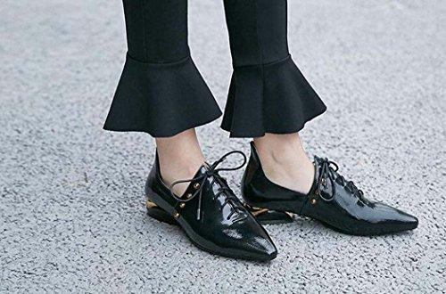 Zapatos Rojo Tacón Cruzados Individuales 34 de Zapatos Talla Tamaño Zapatos Zapatos Mujer Color 39 Negro Punta de Color Estrecha de Negro 34 de Zapatos bajo Ow0qTAn
