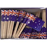 Box of 100 Australia Australian Toothpick Flags Dinner Flags Food Flags Flag Pick WindStrong®
