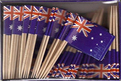 Box of 100 Australia Australian Toothpick Flags Dinner Flags Food Flags Flag Pick - Ship Shop And Australia