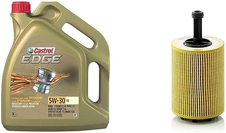 Castrol Edge 5w 30 Ll Motorenöl 5l Mann Filter Ölfilter Hu 719 7 X Für Pkw Und Nutzfahrzeuge Auto