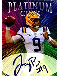 Joe Burrow Platinum Cuts facs auto autograph LSU Tigers 1/1000 football card Heisman Winner