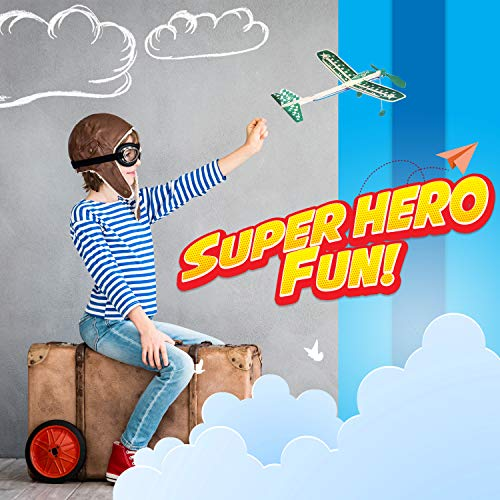 Balsa Wood Airplane Glider and Parachute Man Rubber Band Powered Sky Streak and Captain Storm Twin Packs 5 Piece Set by Guillow (Image #5)