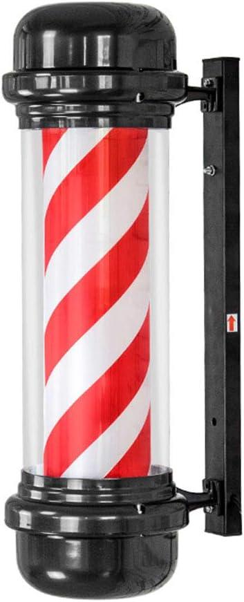 TENCMG LED Barber Pole - Red White Spinning Stripes Sign - Barber ...