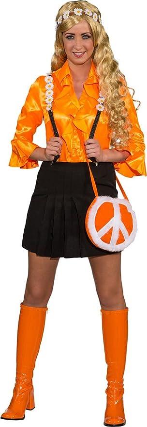 größte Auswahl an hochwertiges Design angenehmes Gefühl Karneval Klamotten Kostüm Tasche Peace orange Zubehör ...