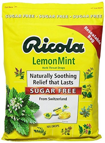 Ricola Sugar Free Lemon Mint Drops, 105 Count Count (4Pack ) Wsmxkd