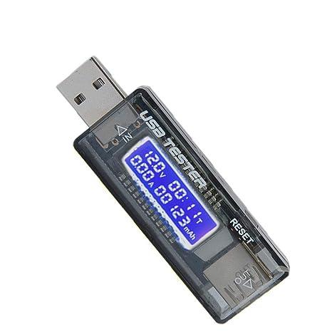 Lorsoul Teléfono móvil Detector rápido Cargador USB, USB de la Corriente del voltímetro Probador,