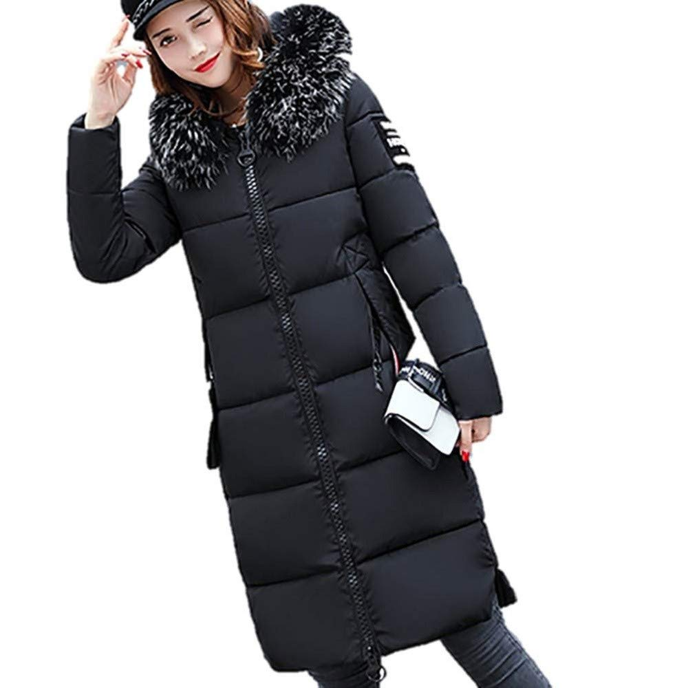 jin&Co Women's Warm Down Jacket Lined Utility Casual Quilted Jacket Winter Thick Pocket Long Parka Jacket Puffer Coat Black by jin&Co Jacket