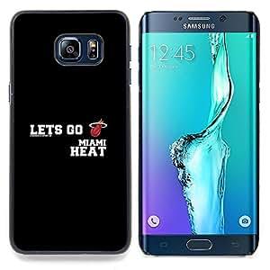 Lets Go - Heat - Basketball Caja protectora de pl¨¢stico duro Dise?ado King Case For Samsung Galaxy S6 Edge Plus