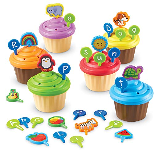 51BgYdpkPHL - Learning Resources ABC Cupcake Party Toppers, Early Alphabet Learning, Vocabulary Toy, Ages 3+