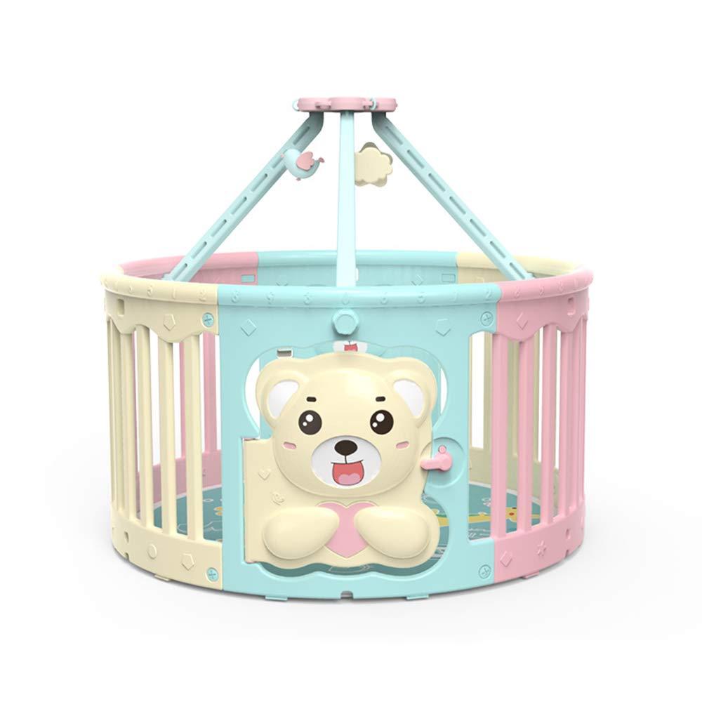 LHA ベッドガードフェンス 赤ちゃんフェンス - 子供の安全フェンス、鉄チューブ、6パネルポータブル、子供の赤ちゃん屋内屋外セーフティゲームフェンスフェンス、119 * 65CM   B07HYJBMVV