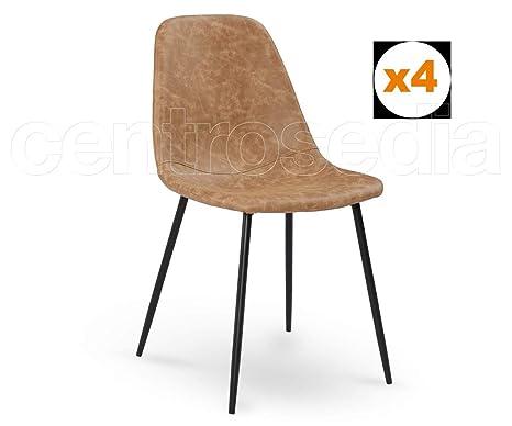 Sedie Di Metallo Vintage : Centrosedia set di sedie micky vintage industriale design