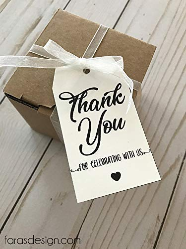 image relating to Thank You Tag Printable identified as : Minimalist Marriage- PRINTABLE Thank Your self Tags