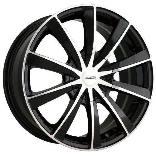 Touren TR10 3210 Black Wheel with Machined Face (18x8