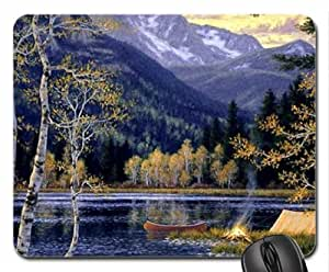 AMAZING NATURE by painter Randy Van Beek. Mouse Pad, Mousepad (Lakes Mouse Pad)