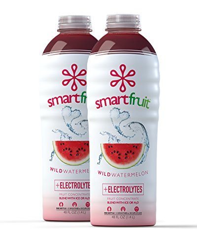 Smartfruit Wild Watermelon, 100% Real Fruit Smoothie Mix, No Added Sugar, Non-GMO, No Additives, Vegan, Family Pack 48 Fl. Oz (Pack of 2) ()