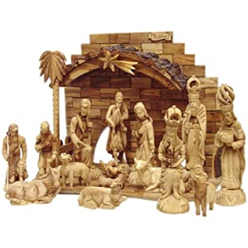 Amazon Com Zytoon Large Nativity Set Intricately Hand
