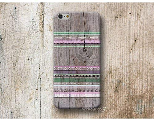 Funda Madera Print Aztec para iPhone 4 5 5s SE 6 6s 7 Plus Samsung Galaxy s8 s7 s6 s5 A5 A3 J5... Huawei LG Moto Oneplus Sony HTC ....