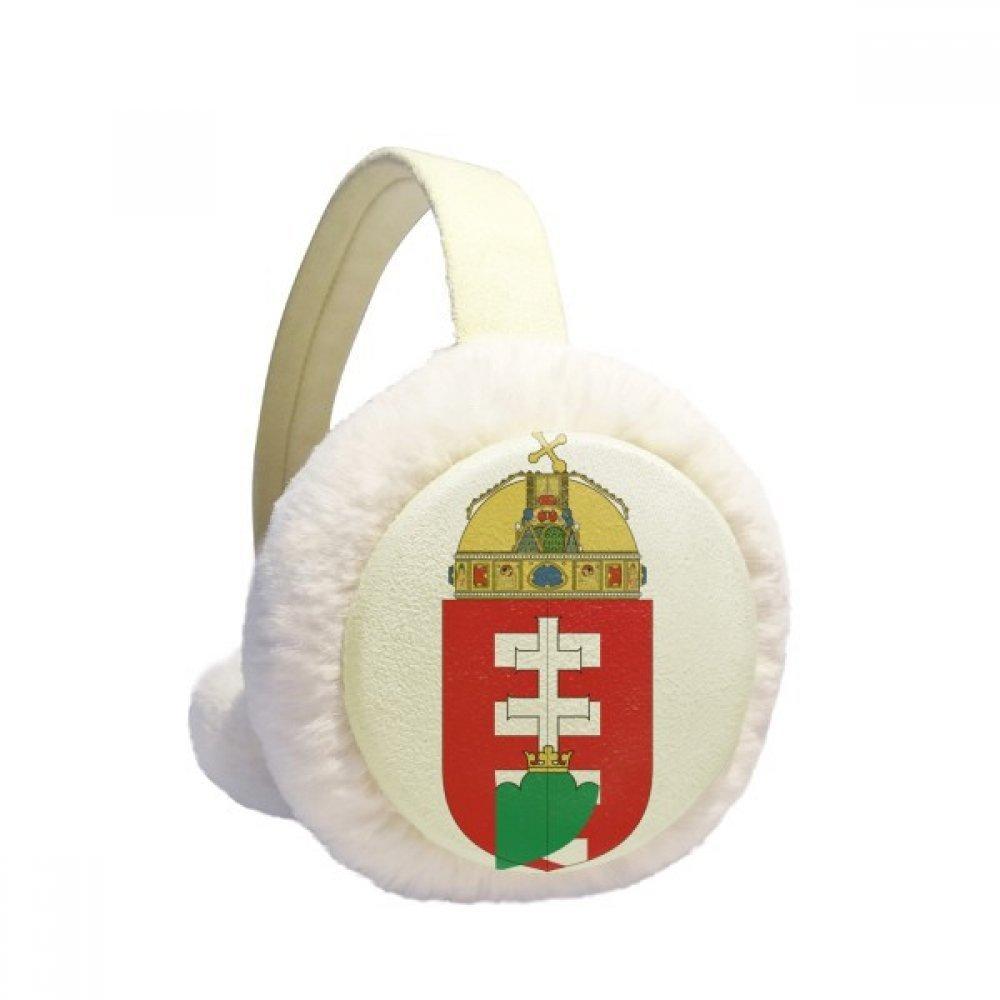 Hungary Europe National Emblem Winter Earmuffs Ear Warmers Faux Fur Foldable Plush Outdoor Gift