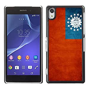 Shell-Star ( National Flag Series-Myanmar ) Snap On Hard Protective Case For SONY Xperia Z2 / D6502 / L50W